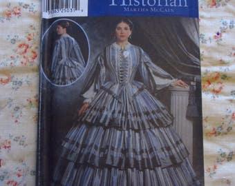 Simplicity 9761 Costume Pattern 6 8 10 12 Civil War Era Dress Tiered Full Skirt FF
