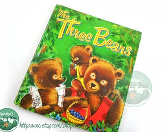 Vintage 1950s The Three Bears Tell a Tale Book Made in USA