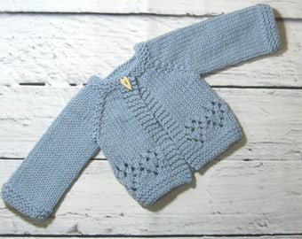 Hand Knit Wool Cardigan for Forever Friends and Other 20-21 Inch Dolls.