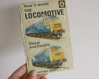 Locomotive Notebook - Handmade from a vintage Ladybird book