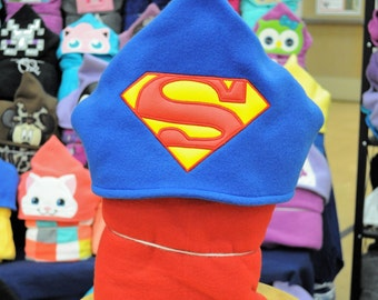 Red Capes Super Hero Hooded Blanket