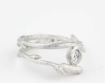Arctic twig ring, twig ring, nature ring