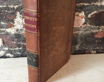 Antique old bound Bible text volume two 1836 Bible victorian old book