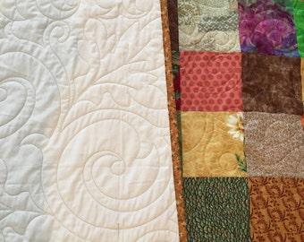 Fall Quilt, Queen Quilt, Patchwork Quilt, Queen size Quilt, Handmade Bedding Quilt, Traditional Quilt, Minimalist Quilt, Queen Blanket