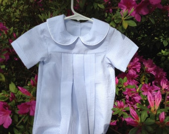 Boys Pleated Peter Pan Baby Bubble