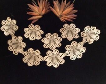 Vintage Very Unique Net Lace Medallions - Vintage Lace, Vintage Linens, Vintage Textiles, Sewing Supplies, Craft Supplies