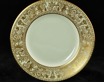 Vintage Wedgwood Gold Florentine Fine Bone China Bread and Butter Plate