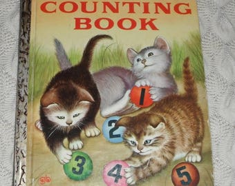 Vintage A Little Golden Book My First Counting Book by Lilian Moore pictures by Garth Williams