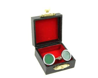 GREEN Key Cufflinks Cuff Links Vintage Typewriter Keys Miniblings large