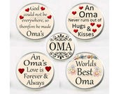 Snap Charms, Oma, Grandma, Grandmother,  Interchangeable Jewelry, 18mm Charm, Snaps, Snap Button Charm, Sayings, Mother's Day Gift #1