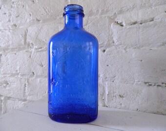 Vintage Milk Of Magnesia Bottle - Cobalt Blue