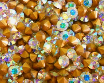 Swarovski 1012 Crystal AB 24ss  Vintage Crystal Chatons Foiled