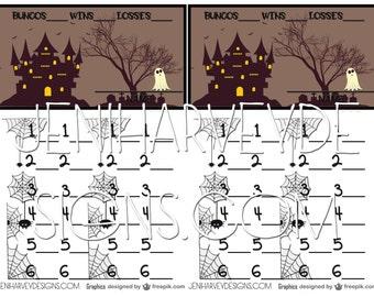 Halloween Town Bunco Score Cards