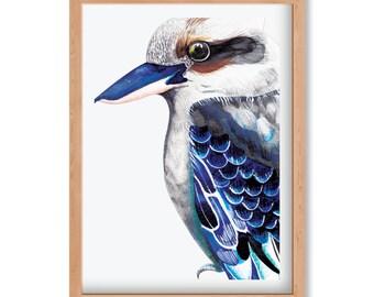 Kookaburra Blue - Limited Edition Print