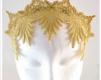 Metallic Gold Lace Crown