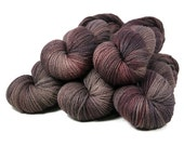 """Rustic Orbit Aran """"Inland Empire"""" 100% Bluefaced Leicester Wool Hand Dyed Yarn 180yds"""