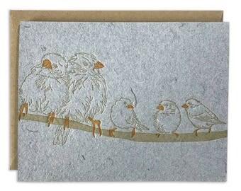 Birds on a Wire letterpress stationary