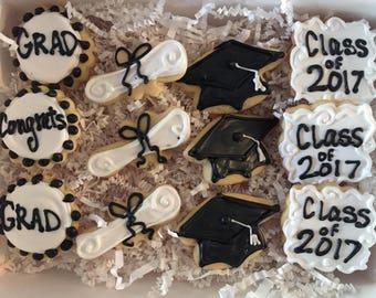 Graduation Sugar Cookie Giftbox MEDIUM