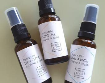 Facial Mists - Instant rehydration boosted with emotionally balancing flower essence magic