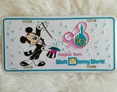 Mickey Mouse Vanity Plate, Disney World 20th Anniversary Collectible License Plate