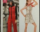 60off Sale RARE Butterick 5617 Young Designer Australia Prue Acton 1970s 70s Jumpsuit Vintage Sewing Pattern Size 11 Bust 33.5
