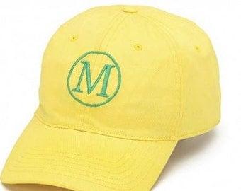 Monogrammed Yellow Baseball Hat, Monogrammed Yellow Baseball Cap, Womens Baseball Hat, Ladies Baseball Cap, Preppy Hat, Summer Hat,Beach Hat