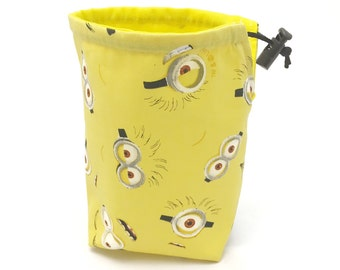 Minions, Dice Bag, Draw String Bag, Free Standing, Revisable, Gamer Bag, D&D Dice Bag, Makeup Bag, Small Gift Bag, Pouch, RTS