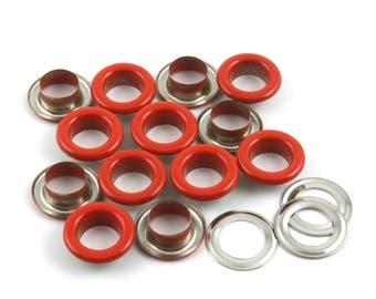 Size: 14*8*5mm (OD * ID * Height) Red Round Eyelet Grommet (RED-RG14)