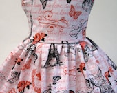 Love in Paris, Valentine's Day Sleeveless Dress for Your American Girl Doll B