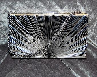 vintage art deco evans evening bag compact cigarette case