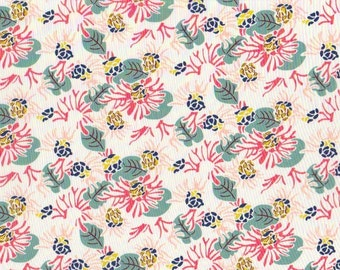 NEW SEASON Fat eighth Cactus Jungle A Liberty print, coral, teal and chartreuse tropical floral Liberty of London tana lawn