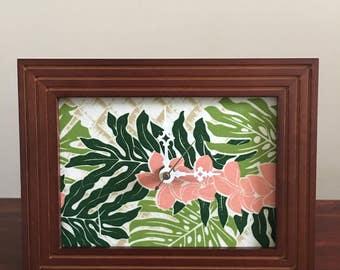 Hawaii  Monstera Fern Flower Clock - Now 35% OFF