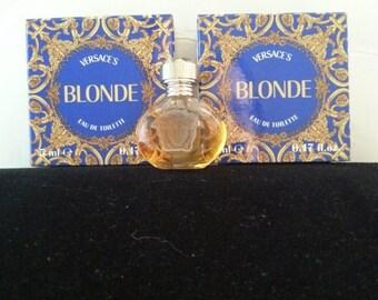 Now On Sale Rare Versace Blonde Perfume * Collectible Miniature Perfume Bottle * 1990's * 1995 Parfum