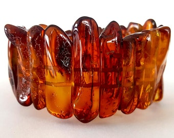 Baltic Amber Bracelet Red Beads Christmas gift