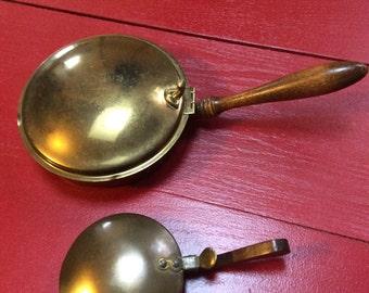 Pair brass Silent butlers