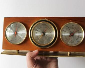 Vintage Jason Tabletop Hygrometer Thermometer Barometer 1970s