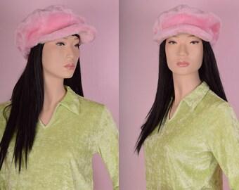 90s Pink Plush Hat