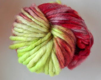 Uruguayan merino wool 18,5 mic extrafine hand spun hand dyed yarn 2 oz (50gr) any color o mix chunky,rustic,bulky,flame