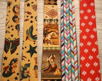 Boys neck ties size 8 and up years, you choose fabric.  Clearance, free shipping!