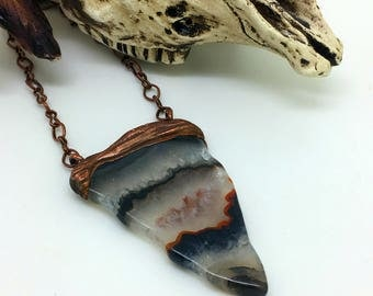 Botswana Agate Necklace   Boho Necklace   Layering Necklace      Item 1645