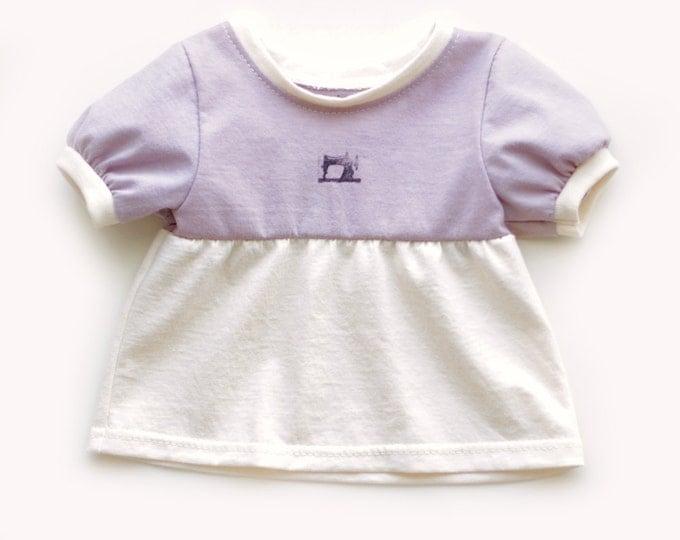 Organic Baby Tunic Top in Purple // Purple Baby Tunic // Purple Baby Top // Organic Baby Dress // Purple Baby Dress / Organic Baby Gift Idea