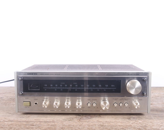 Vintage Stereo Receiver / Onkyo TX-1500 Stereo Receiver / Antique Electronics / Working Stereo Receiver / Retro Stereo / Silver