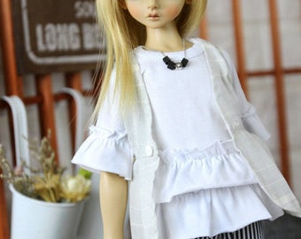 SAYOKO outfit for LUTS dollfie 1/4 BJD Doll - White Top (No.A642)