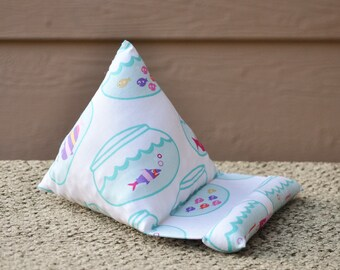 Phone/Kindle/Nook/iPod or iPad/Tablet Pillow Stand Colorful Fish in