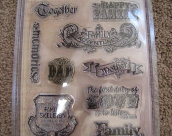 7 Gypsies Clear Stamp Set - Ink Family