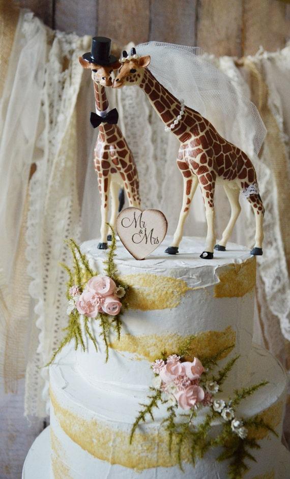 81 Giraffe Wedding Cake Topper