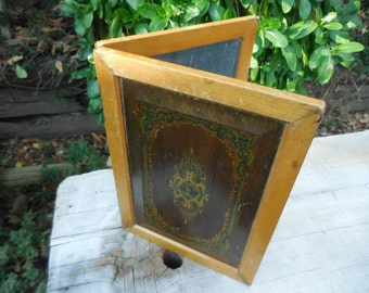 Antique A W Faber Hinged Double Chalkboard
