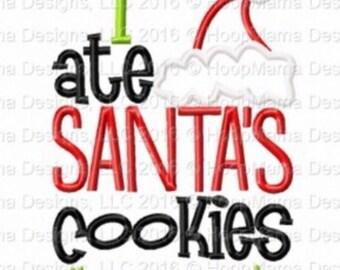 I ate Santa's cookies - #no regrets - Holiday applique shirt - Santa's cookies shirt - applique design -monogram shirt - Christmas