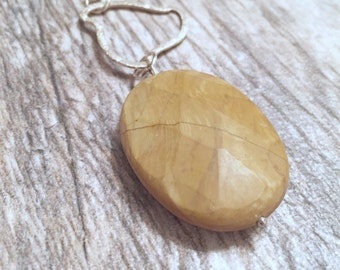 Cleanses Toxins  - Jasper pendant necklace - Silver necklace - Pendant necklace - Jasper necklace - Handmade jewelry - Imwyred