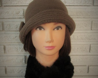 Crochet Cloche Hat Downton Abbey Vintage Style Brimmed Cloche 1934 Pattern